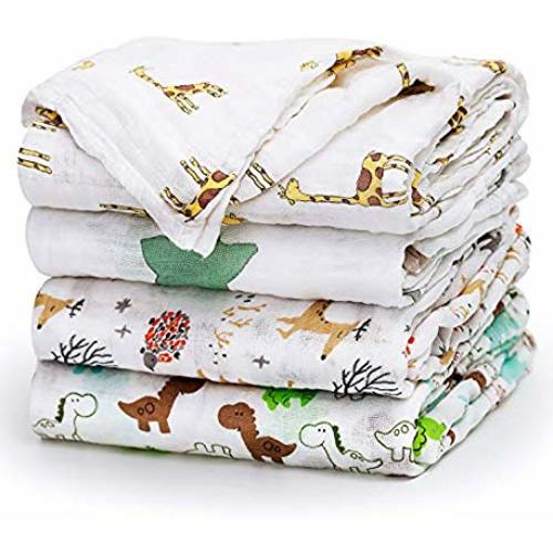 """d6f8ea5cd Upsimples Newborn Baby Swaddle Blanket Unisex Soft Bamboo Muslin Swaddle  Blankets 47"""" x 47"""" Large Receiving Blanket for Boys and Girls, ..."""