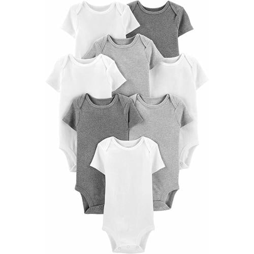 Rottweiler Image White Baby Bodysuit Heather Grey Trim babygrow NEW