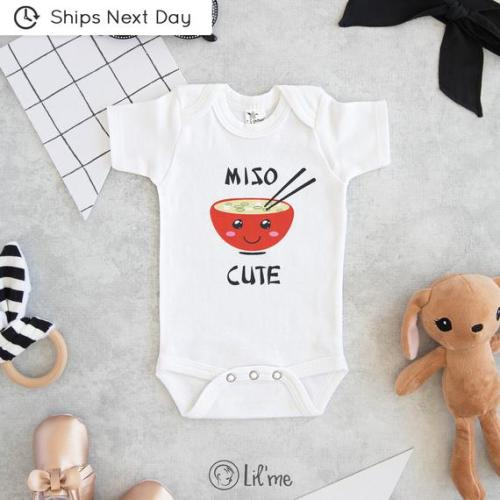 663b2563419e3 Miso Cute Onesie®, Baby Shower Gift, Unisex Baby Clothes, Baby Boy Clothes,  Funny Onesie®s, Sushi Onesie®, Cute Baby Onesie®s, Hipster Baby