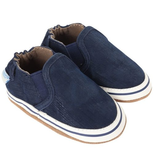 234374814a74f Liam Basic Navy | Soft Soles | Baby Shoes | Robeez