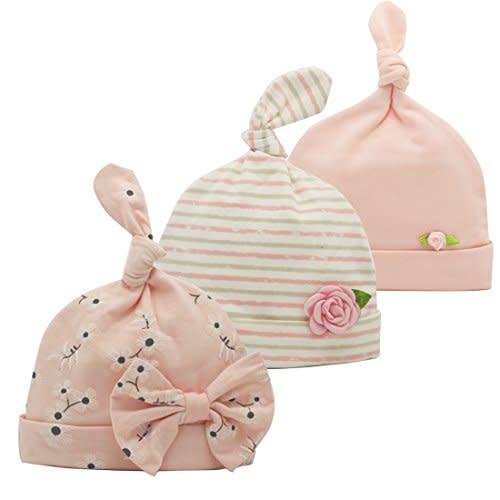 Baby Laundry Pink Primrose Garden Soft Cotton /& Minky Beanie Hat 6-12 Months