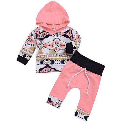 Smartbear Baby Girls Long Sleeve Feather T-Shirt Tops Pants Hat 3pcs Pajama Sets Toddler Outfit