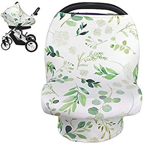Premium Baby Car Seat Canopy Multi Use Breathable Hypoallergenic Breastfeeding Cover Scarf Infant Stroller Cover TILLYOU Jersey Knit Soft Stretchy Nursing Cover Best Baby Shower Registry Gift
