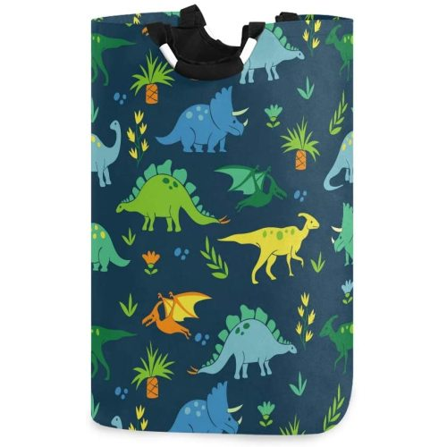 DOMIKING Cute Dog Animal Laundry Hamper Laundry Storage Basket Collapsible Organizer for Kids Room Dirty Cloth Toy Dorm Bag with Handle