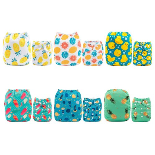 Bambino Mio 6-12 Months Reusable Swim Nappy Multicolour Medium Poppy