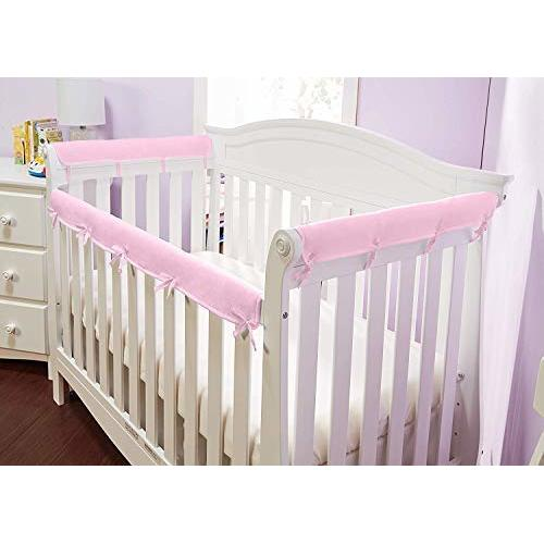 Set of 2 Cheetah Girl Pink and Brown Teething Protector Cover Wrap Baby Girl Crib Side Rail Guards