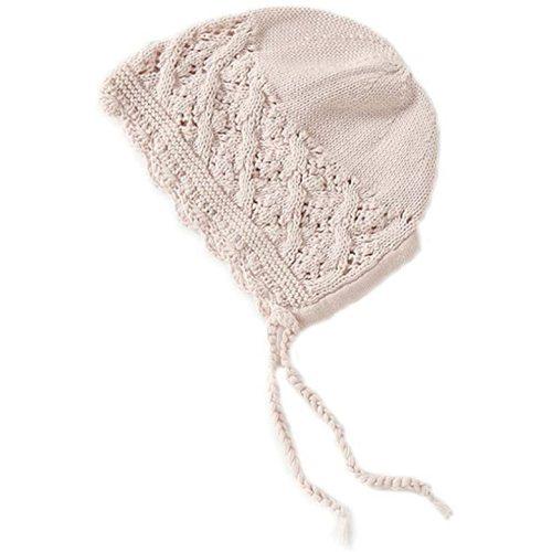 Vivobiniya Toddler Girl Lovely Flounce Knit Hats Baby Bonnets Newborn Baby Hats 0-8y