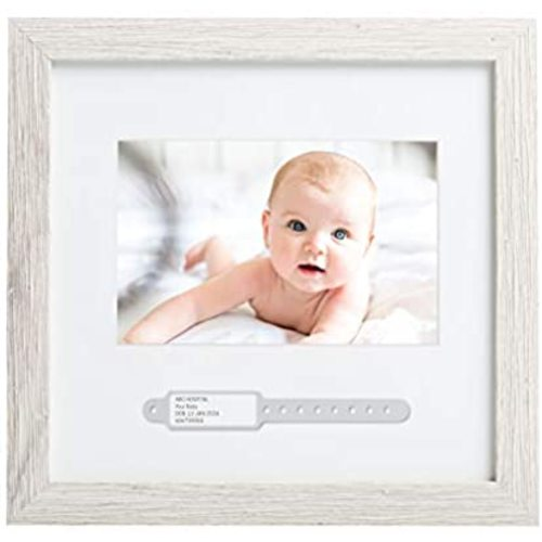 Meilo Baby Handprint Kit Footprint Photo Frame for Newborn Girls and Boys,Ideal Baby Gifts Non-Toxic,Complete Bedroom Decor