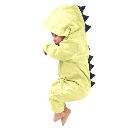 KaiCran Clothing Baby Romper,Newborn Baby Girls Boys Long Sleeve Bat Halloween Bodysuit Solid Color Romper Jumpsuit Outfits