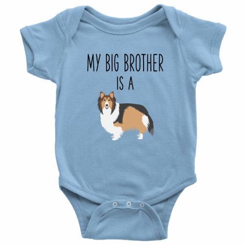 Corgi Dog Heart Unisex Toddler Baby 2-Piece Short-Sleeve Bodysuit Baby T-Shirt Set