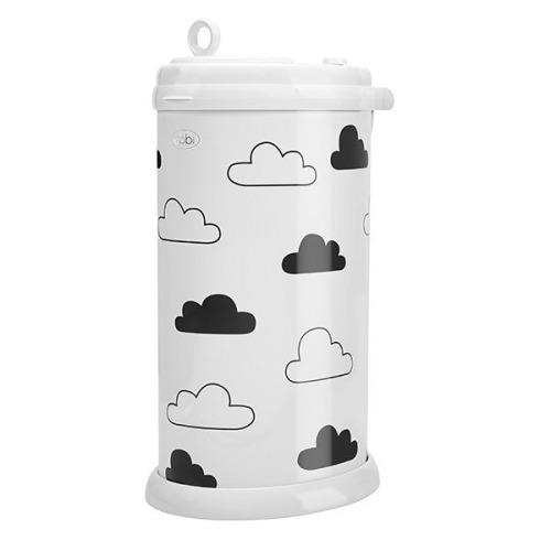Ubbi Diaper Pail - White Clouds