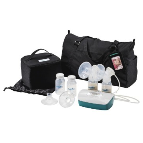 1 Year of Feeding Necessicties & Deluxe Advanced Double Electric Breast Pump from Evenflo