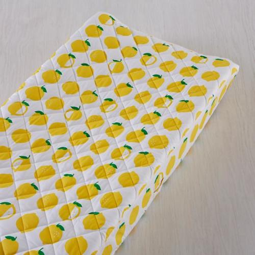 The Land of Nod Farmers Market Lemon Changing Pad Cover - $35.00