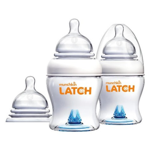 Munchkin Latch 4 Ounce Bottle with Bonus Nipple - 2 Pack - $23.44