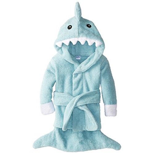 "Baby Aspen ""Let the Fin Begin"" Shark Robe - Blue - $22.08"