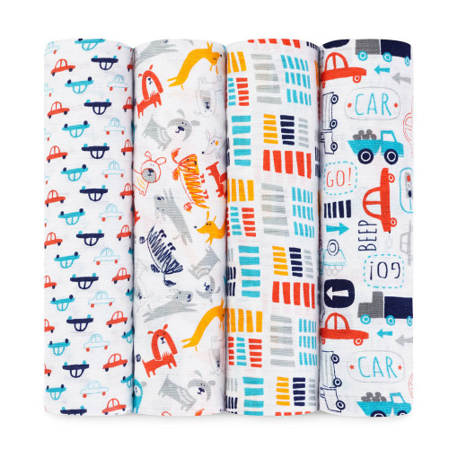 aden + anais Zutano Collection Swaddles (4 Pack)  - $54.99