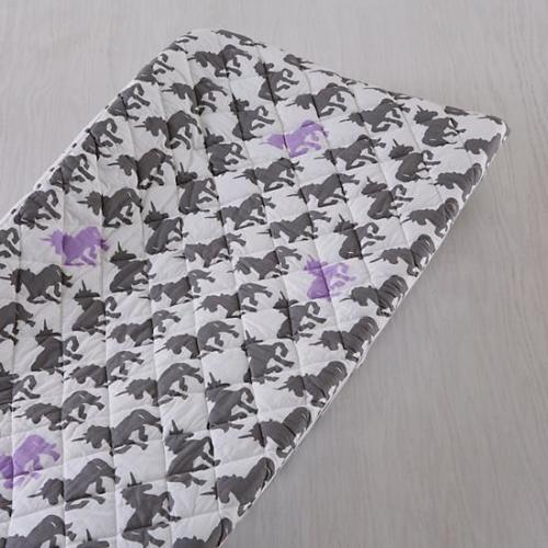 The Land of Nod Purple and Grey Unicorn Changing Pad Cover - $35.00