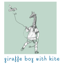 i'm smitten | prints | giraffe boy with kite