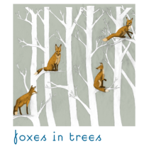 i'm smitten | prints | foxes in trees
