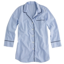 Nightshirt in end-on-end cotton - sleepwear - Women's new arrivals - J.Crew
