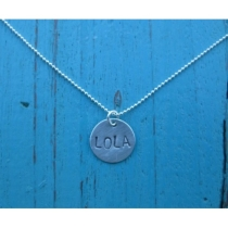 Personalized Half Inch Name Necklace by AnicaDesigns on Etsy