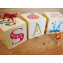 Personalized alphabet blocks  custom name blocks by JuliaStaite