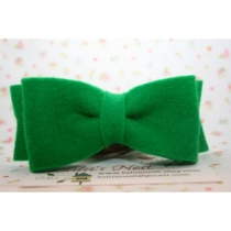 Felt Green Bow Hair Clip by lulusnest on Etsy