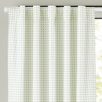 "63"" Fine Prints Curtain Panel (Green XO) in Curtains & Hardware"