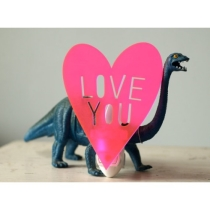 LOVE YOU night light in neon pink by owlyshadowpuppets on Etsy
