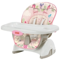 Fisher-Price Space Saver High Chair - Pink Tree Party