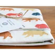 Organic Baby Blanket BEAR HIKE Last One by organicquiltcompany