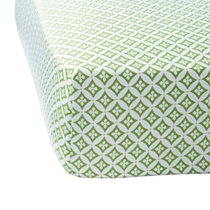 Spring Green Florentine Crib Sheet from Serena & Lily