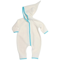 Zutano Infant Baby-Cozie Elf Romper - Cream - 6 months