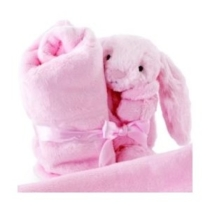 "18"" x 18"" Beginning Pink Bunny Soother"