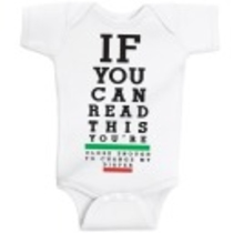 Eye Chart Infant Lap Onesie - Onesies - Kids