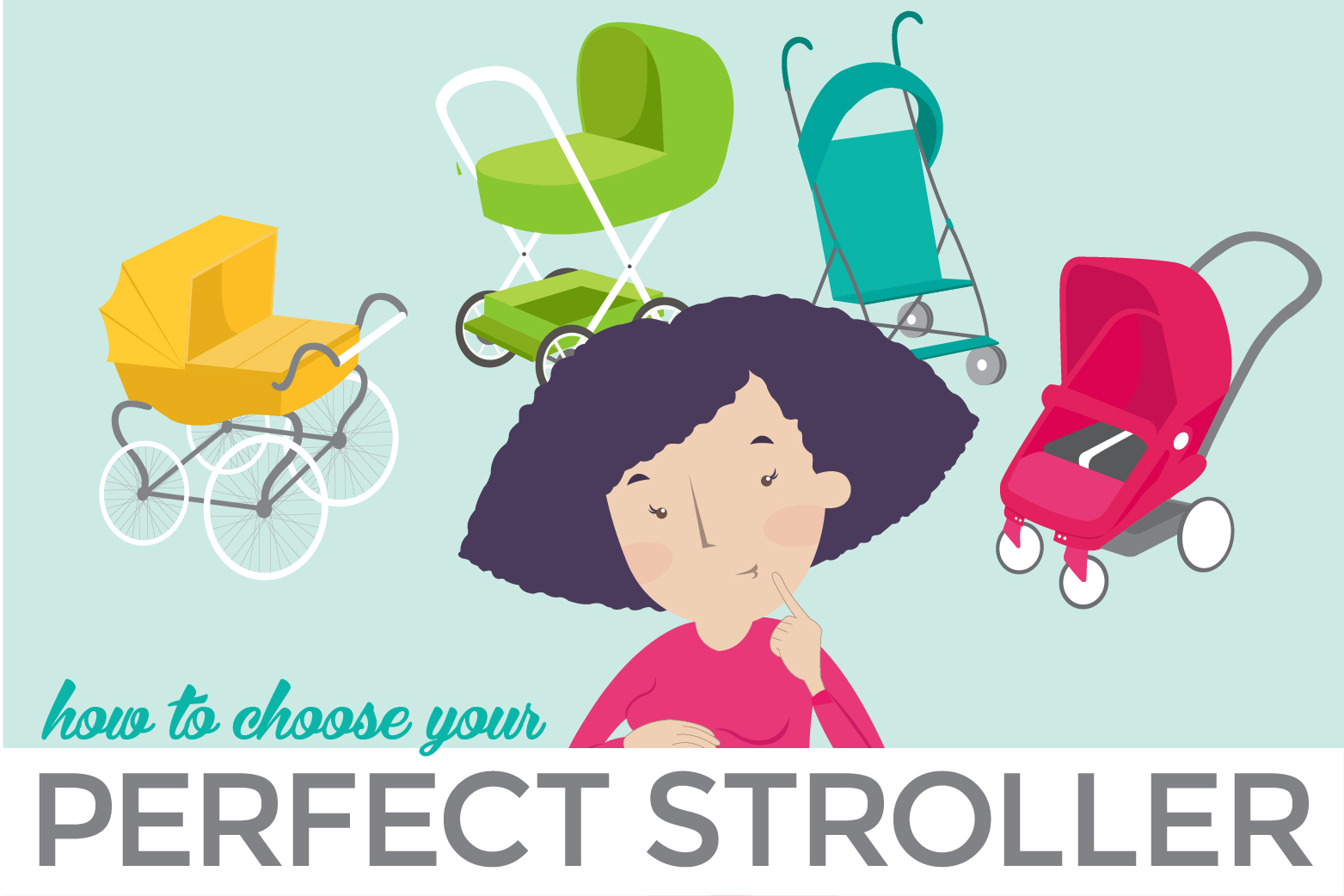Feeling overwhelmed? Need some advice to find the stroller that's right for you? Here we break down the different types of strollers and when to use them. Use this guide to help you figure out the best stroller for your family's needs and priorities.