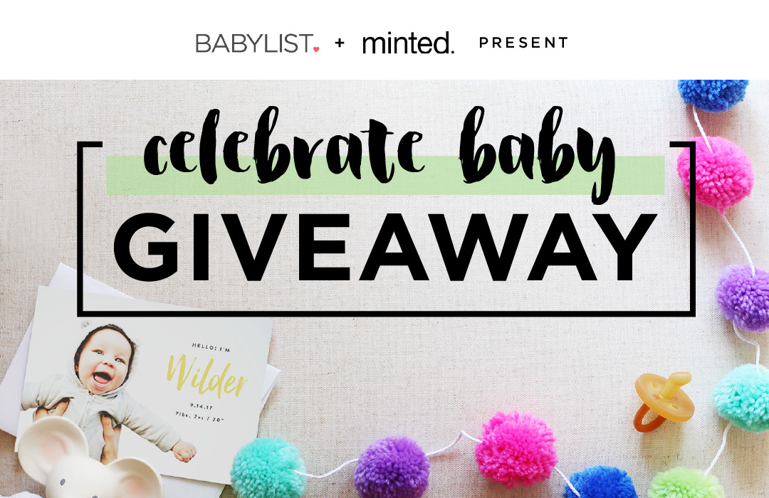 Minted Celebrate Baby Giveaway