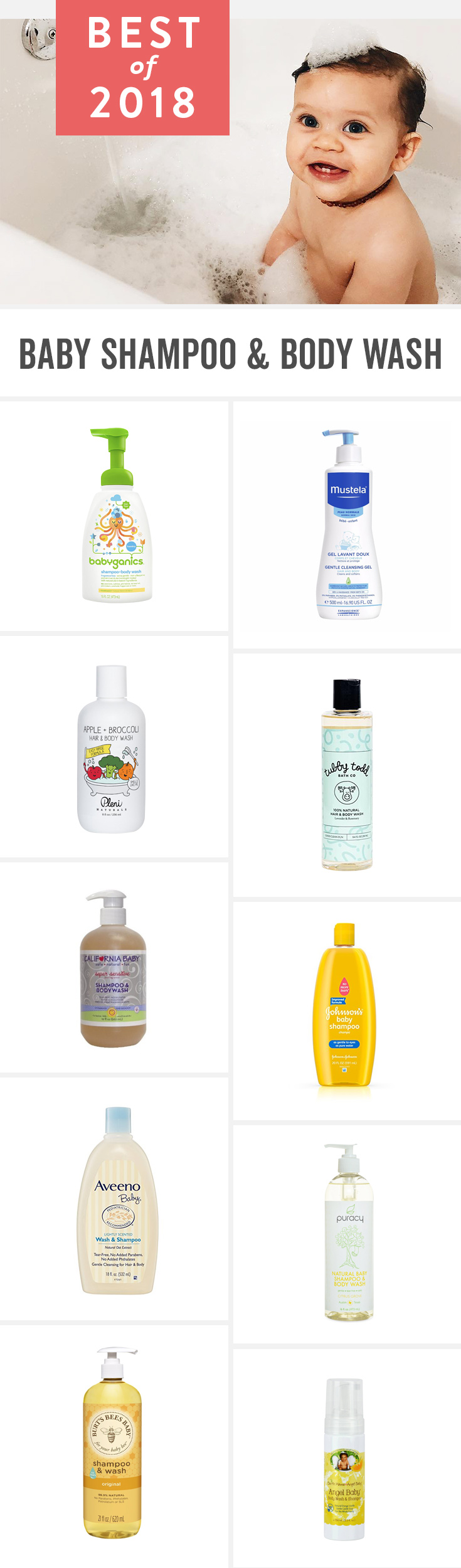 Best Baby Shampoo & Body Wash of 2018