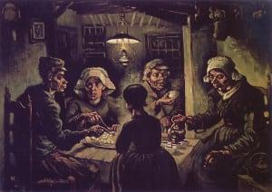 sejarah kanvas the potato eaters