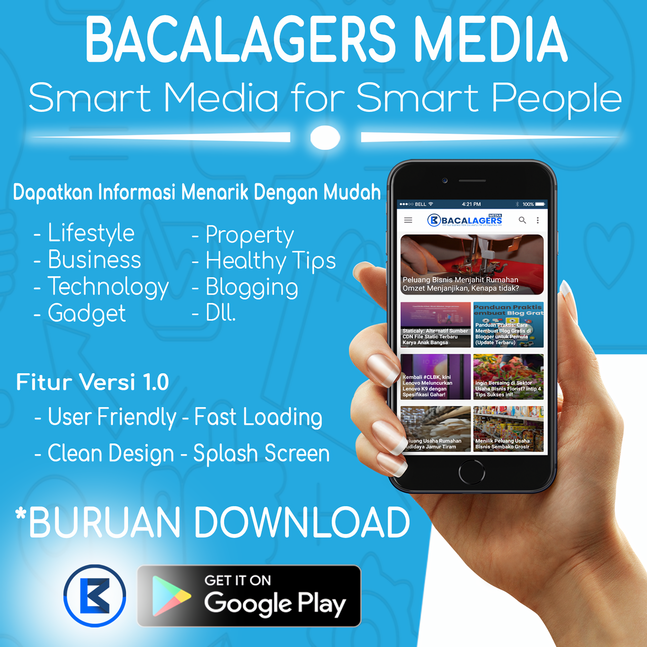 Download Gratis Aplikasi Android Bacalagers Media di Google Play