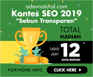 kontes seo sabun transparan adev natural terbaru 2019