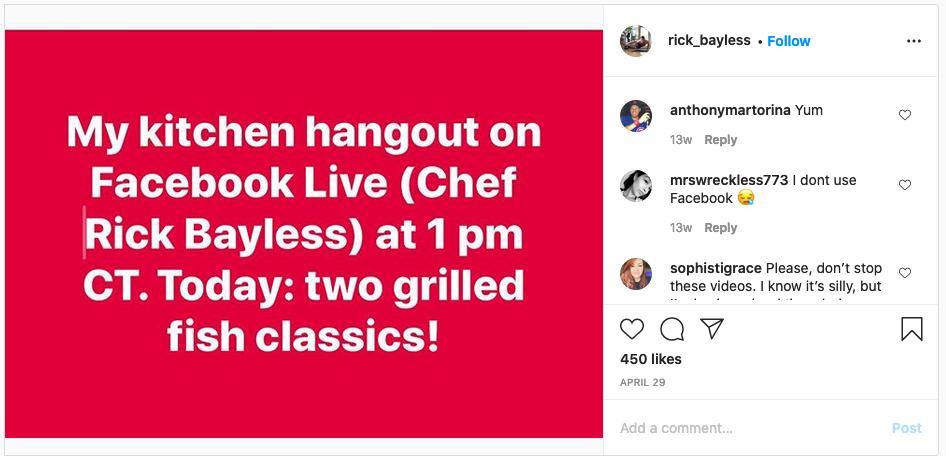 Rick Bayless Instagram screenshot