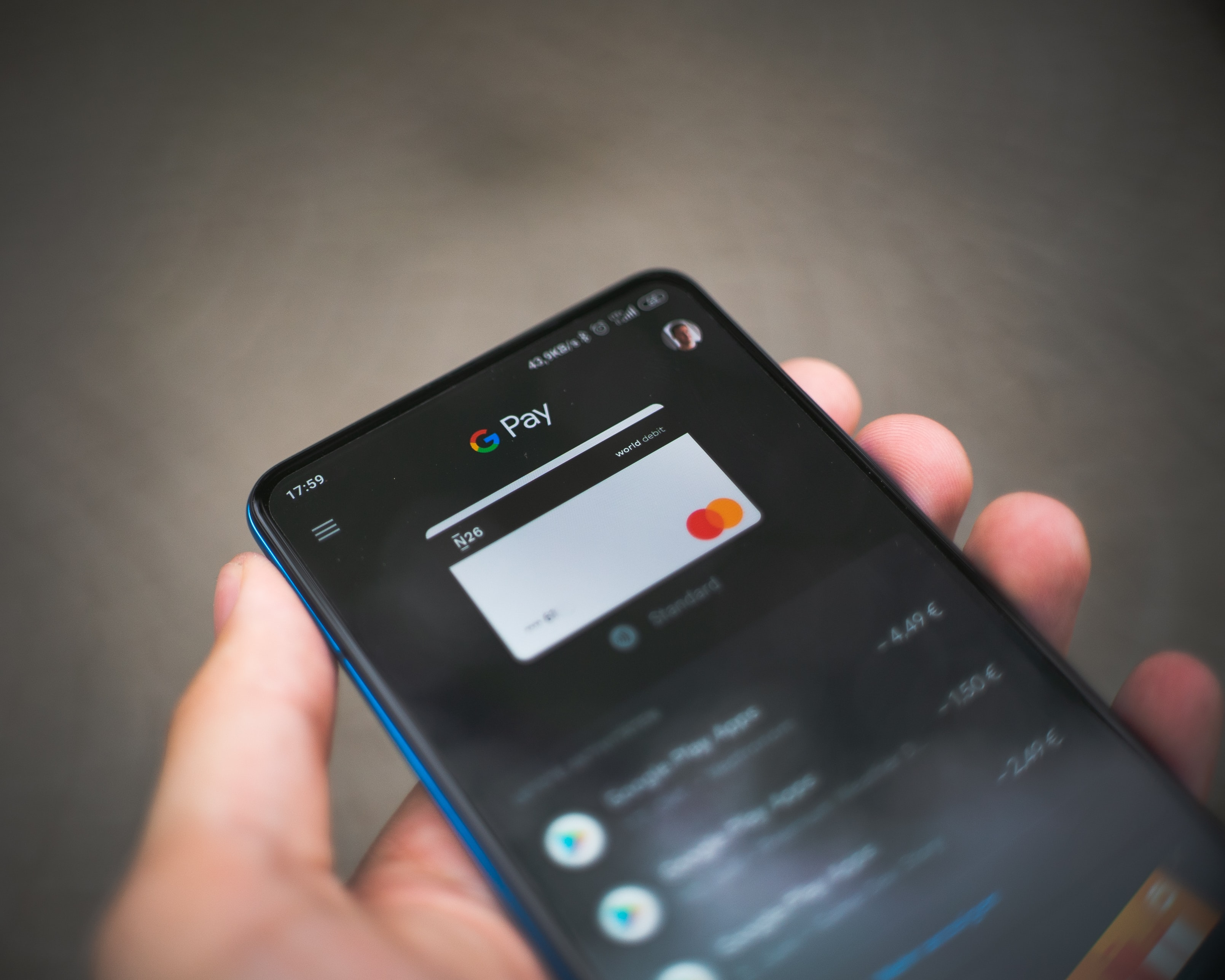 Google Pay mobile payments