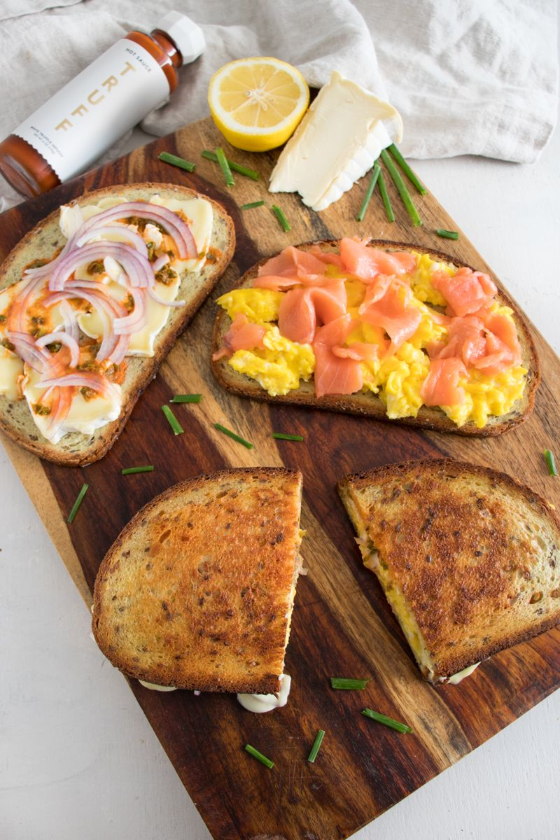 Spicy Smoked Salmon Egg & Cheese Sandwiches