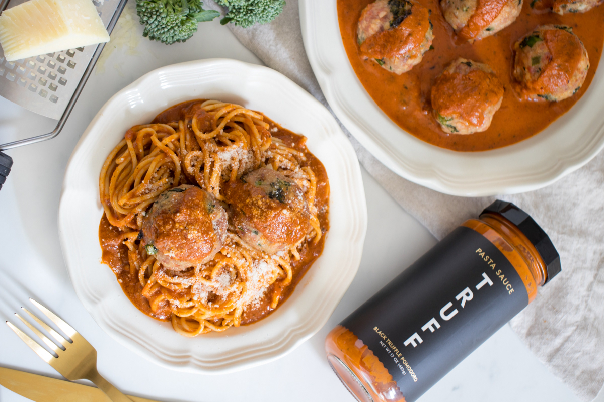 Pork, Broccoli Rabe, Pecorino Meatballs