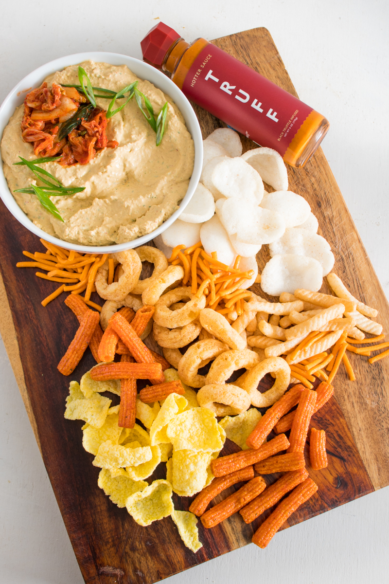 Spicy Kimchi Dip and Chips