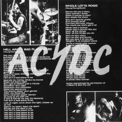 AC/DC - Let There Be Rock (1977) Inside 1