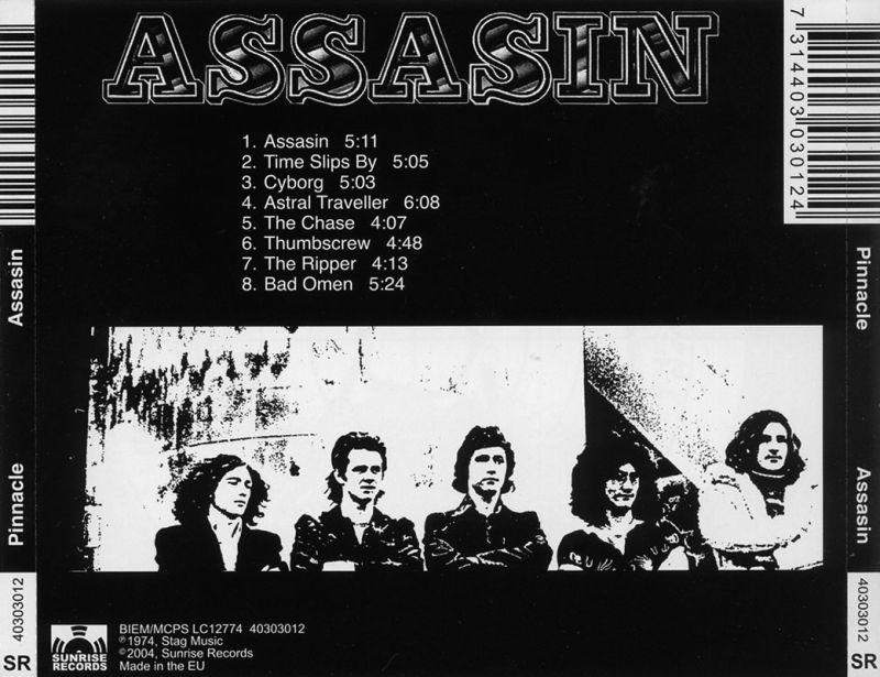 Pinnacle – Assasin (1974) Back
