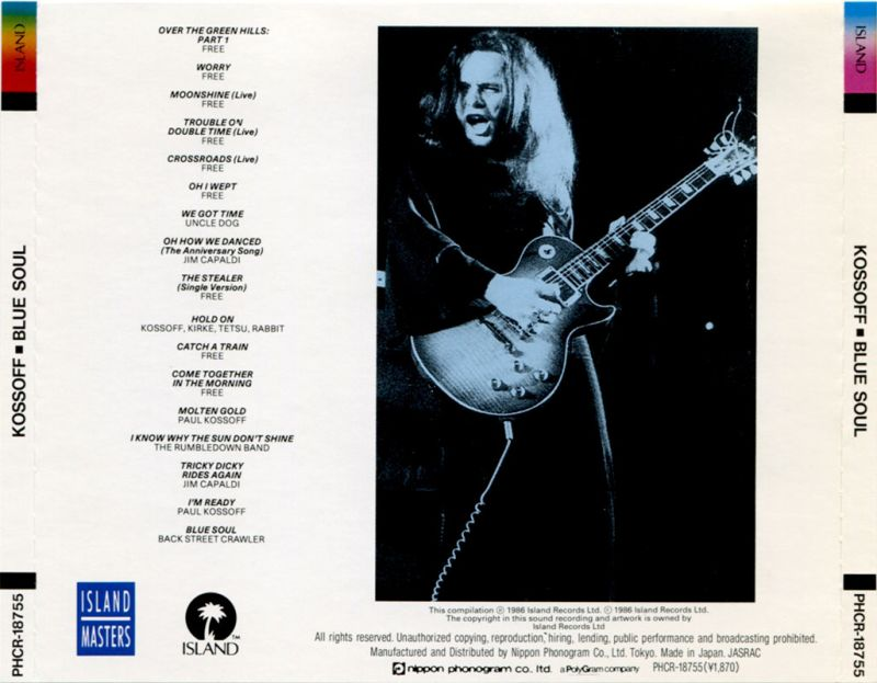 Paul Kossoff - Blue Soul (1986) Back