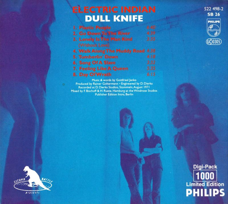 Dull Knife - Electric Indian (1971) Back